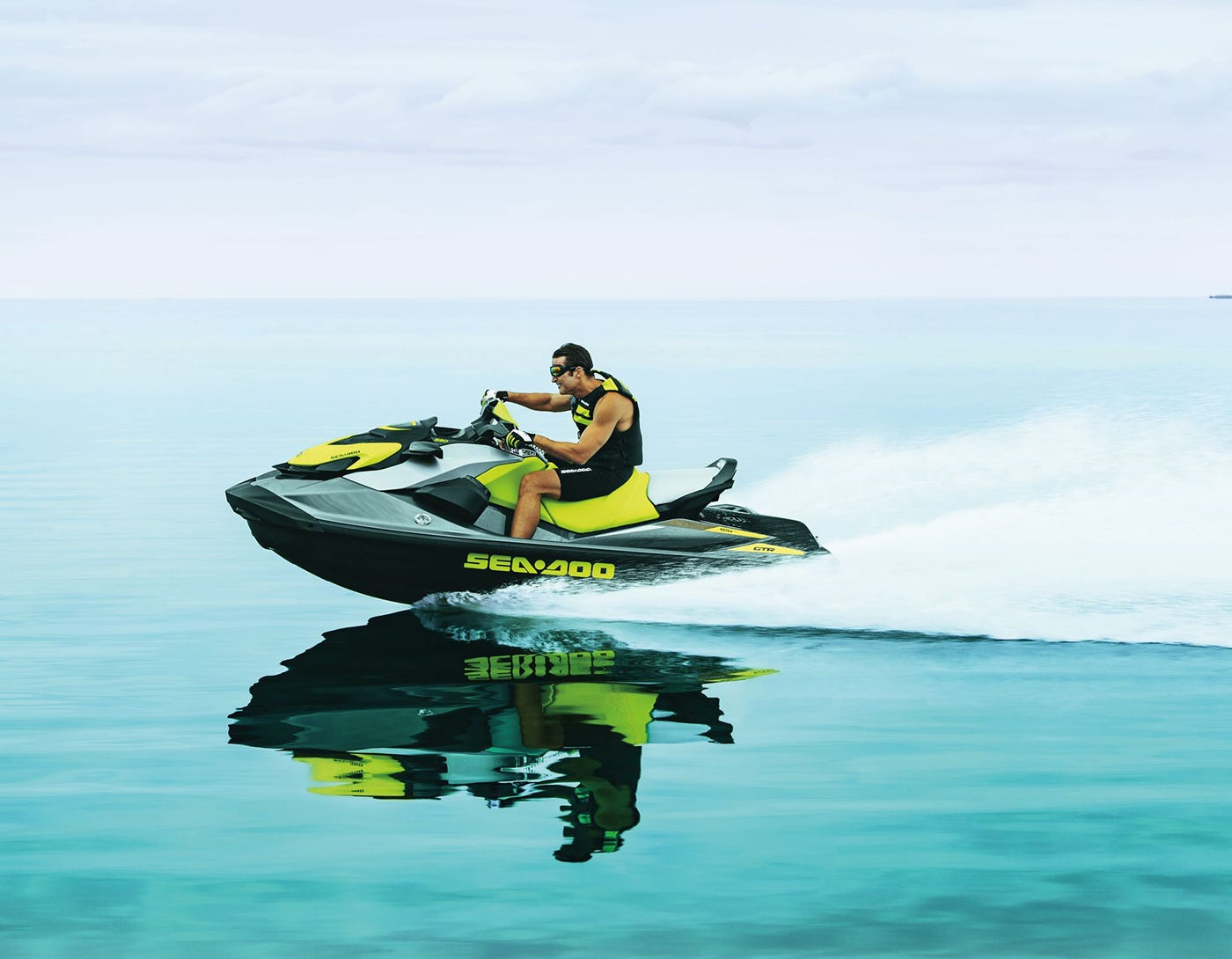 Personal watercraft in action