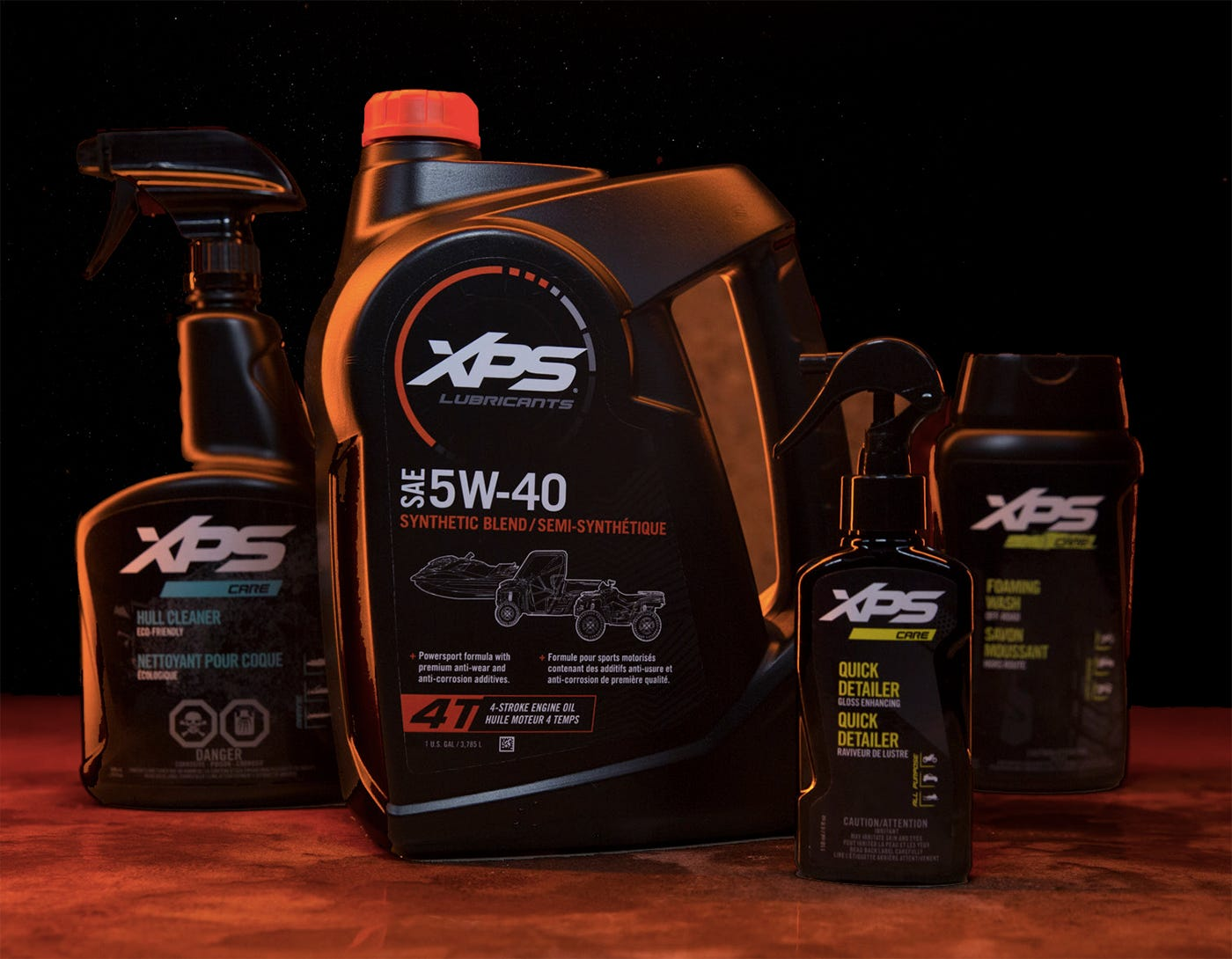 XPS Lubricants and Care products line-up